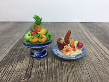 Mini Polymer Clay Dollhouse Food Fish & More 2 Pieces Miniature Collection 0002