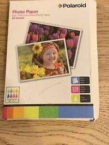 "POLAROID Photo Paper Premium Gloss 6 x 4"" x 50 Sheets 220 gsm"