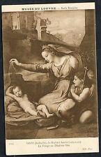 C1950's Art Card - 'La Vierge au Diademe Bleu' by Raphael