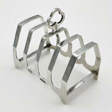 More details for george vi sterling silver 5-bar toast rack birmingham 1937 robinson & co