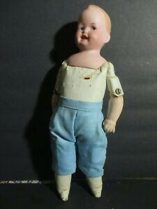 """Rare 13"""" Antique Ernst Heubach 261 14/0 Bisque Googlie eyed Doll Germany"""