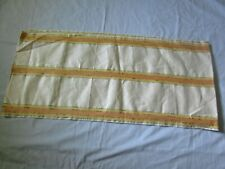 """Vintage Linen Towel Fabric Natural Linen Yellow And Orange Stripe 16"""" X 4 Yd"""