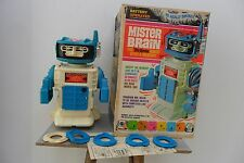 Rare Mister Brain Robot Battery Operated Remco Toys Made in Usa 1960's Box