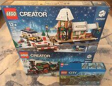 LEGO Creator Winter Holiday Train Bundle Lot (10254, 10259, 7895) New In Box