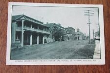 Vintage postcard Spring St El Dorado Springs MO Missouri 1908