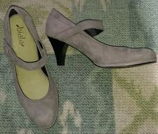 BIALA-SZ 40M (9.5-10)-ITALIAN-GRAY SUEDE LEATHER-DRESS HEELS/SHOES-EXCELLENT!