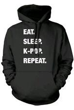 Eat Sleep K-Pop Repeat KPOP Unisex Hoodie Medium BTS BNWOT hooded top