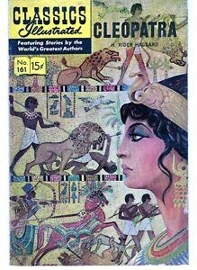 Vintage Comic  - Classics Illustrated # 161 - Cleopatra - H Rider Haggard