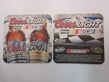 Beer Pub Coaster ~ Coors Light: Official Beer Of NASCAR Stock Car Racing Sport