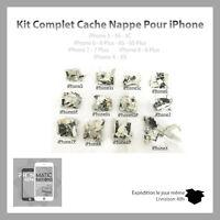 Kit Complet Cache Nappe/pieces metalliques pour Iphone 5/5S/5C/6/6S/7/8/+/X/XS