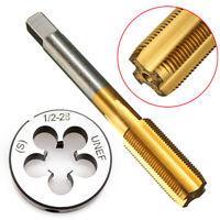 1/2''-28 UNEF Titanium Coated Tap & Die Right Hand Thread Metalworking Tool Bits
