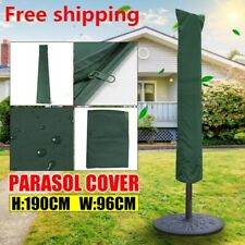 190 x 96cm Parasol Umbrella Green Cover Outdoor Garden Patio Shield Waterproof
