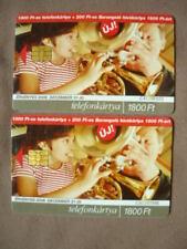 2 Chip Kaarten gebruikt Hongarije  -  30.11.2006 & 31.12.2006