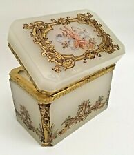 Antique Opaline Putti Hinged Box
