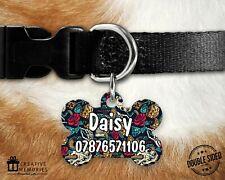 Personalised Pet ID Tag - ID Tag - Dog Tag - Dog Tags - Skulls Snakes Roses