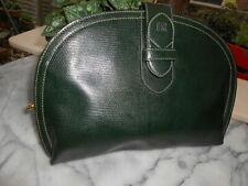 Rare pochette cuir vert HELENA RUBINSTEIN vintage