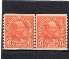 Us Scott #723 Fine Mint Hinged Joint Line Coil Pair From 1932. Cv Is $82.50. Su