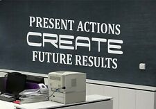 Create Results Office Wall Decor Office Wall Art Inspirational Quotes Wall Decal