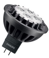 1 X Philips Master LED MR16 (GU5.3) 7W DIMMABLE in 3000K RETROFIT 60D 440 lumens