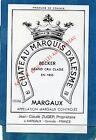 MARGAUX 3E GCC VIEILLE ETIQUETTE CHATEAU MARQUIS D' ALESMES 1970/1980 §15/12§