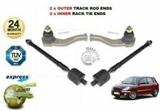 FOR DAIHATSU SIRION 1998-2005 NEW 2x OUTER & 2x INNER TRACK TIE RACK ROD END