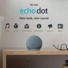 Amazon Echo Dot (4th Generation) Smart Speaker - Charcoal Blue White BRAND NEW