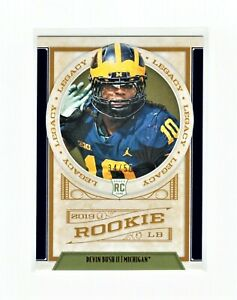 Devin Bush 2019 Panini Legacy Rookie #158 Blue SP 34/50 Steelers