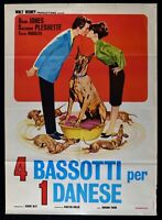 Manifesto 4 Bassets Per 1 Danés Dean Jones Walt Disney Suzanne Pleshe M296