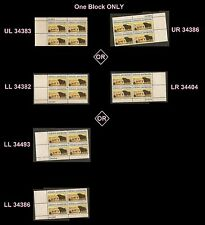 US 1504 Rural America Angus Longhorn Cattle 8c plate block MNH 1973