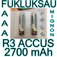 4 x PILAS AAA BATERÍAS RECARGABLES MIGNON 2700 mah Ni-MH 1, 2V R3 LR03 NUEVO