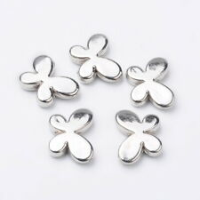 10 CCB Acrylic Silver Butterfly Beads (F22)