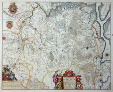 BELGIEN BRABANTIA TERTIA PARS BRABANTIAE ANTVERPIA ANTWERPEN WAPPEN BLAEU 1645