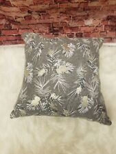Holiday Lane Pinecone Printed Square Pillow, Created for Macy's Gray 18 x 18 in