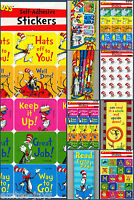 Dr Seuss Stickers Bookmarks Erasers Pens Pencils - Teacher - Motivate - Birthday