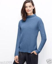 NWT ANN TAYLOR Funnel Mock Neck Sweater Drop shoulders Stargaze SIZE L 355279