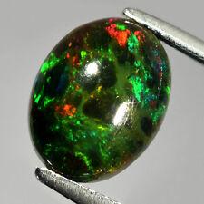 1.53 ct. Bezaubernder schwarzer ovaler 10.5 x 8 mm Äthiopien Kristall Opal