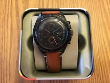 Fossil Sport 54 CH3050 Automatic Men's Brown Leather Chronograph Watch $155 NEW