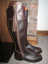 Spanish Riding Boots - Mahogany Brown Leather - Size EU 37 / UK 4