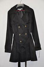 NWT Women's DKNY Double-Breasted Trench Coat W/ Detachable Hood. Sz.M $180