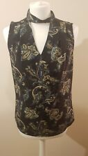 Woman BNWT Vneck Dark Top Size 8 Sleeveless Party Official