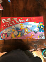 The Simpsons Loser Takes All Board Game 2001 - Missing Fake Money - For Parts
