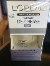 NEW LOREAL ANTI-AGING TREATMENT WRINKLE DE-CREASE EYE WRINKLE & DERMO-SMOOTHER