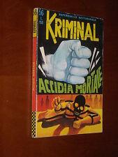 KRIMINAL n. 56 - ACCIDIA MORTALE - OTTIMO - lug. 1966 - Ed. Corno (c)