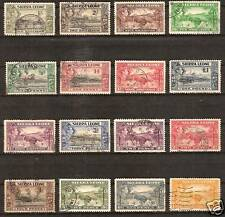 SIERRA LEONE # 173-85 Used SCENES LANDSCAPES ARTIFACTS
