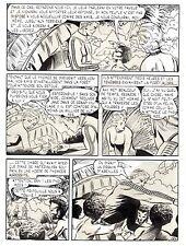 FERNANDO FERNANDEZ : LA PLANETE INTERDITE PLANCHE ORIGINALE METEOR PAGE 54