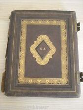 ancien livre avec photos superbe reliure dorée suisse