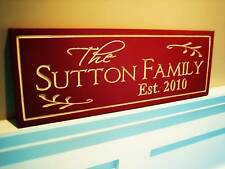 Personalized Family Name Sign Plaque Carved 7x24