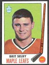 1969 70 TOPPS 48 BRIT SELBY VG-EX TORONTO MAPLE LEAFS HOCKEY CARD WITH FREE SHIP