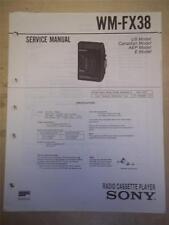 Sony Service Manual~WM-FX38 Walkman Radio Cassette Player~Original~Repair