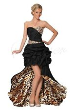 Sexy Strapless Dress with Animal Print Long Train CO5110 UK8,10,12,14,16